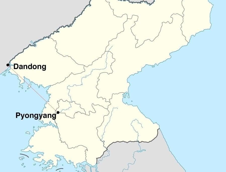 Pyongyang Dandong Map