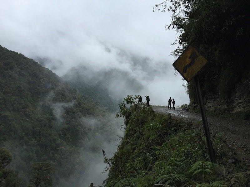 Sharp Drop Death Road Bolivia