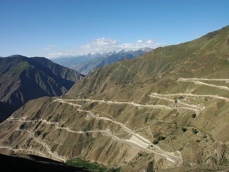 Sichuan Tibet Highway Curves China