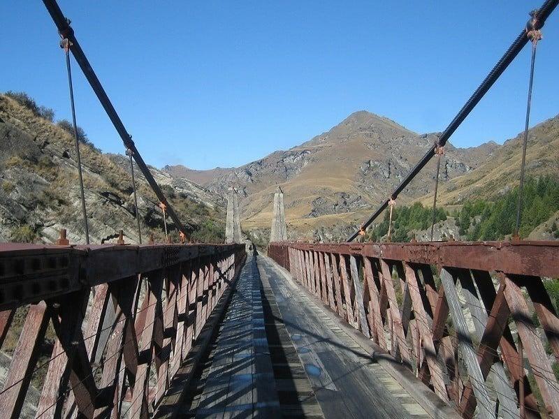 Skippers Canyon Road Suspension Bridge