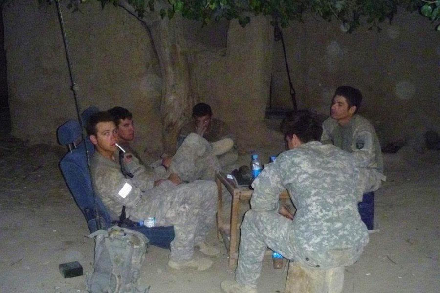 Soldiers In Outpost