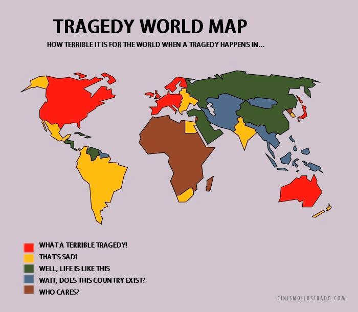Tragedy World Map Shows Which Areas Get Most Sympathy