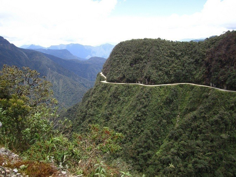 View North Yungas Death Road Bolivia