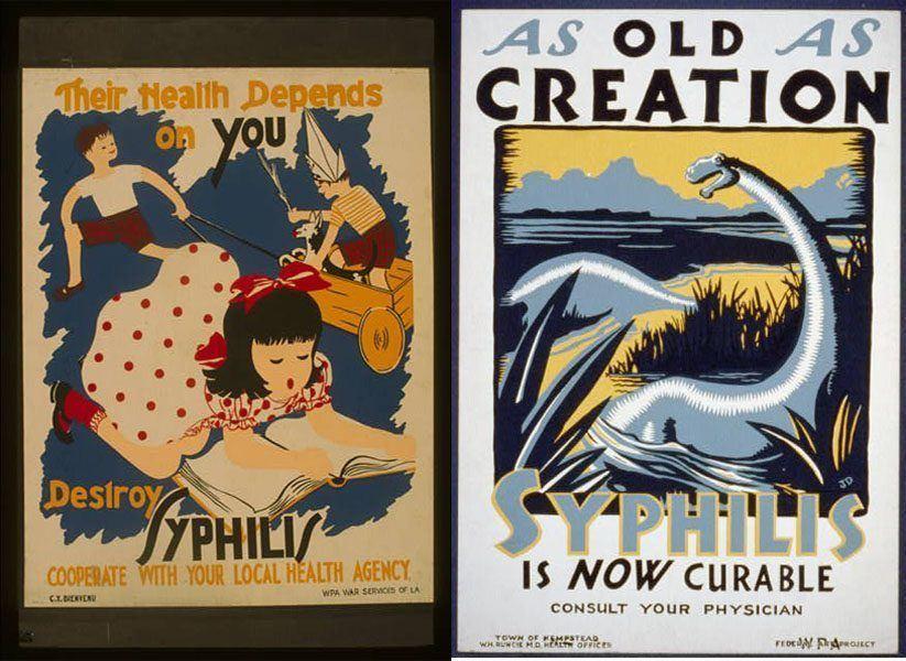 Vintage Health Posters Children Dinosaurs