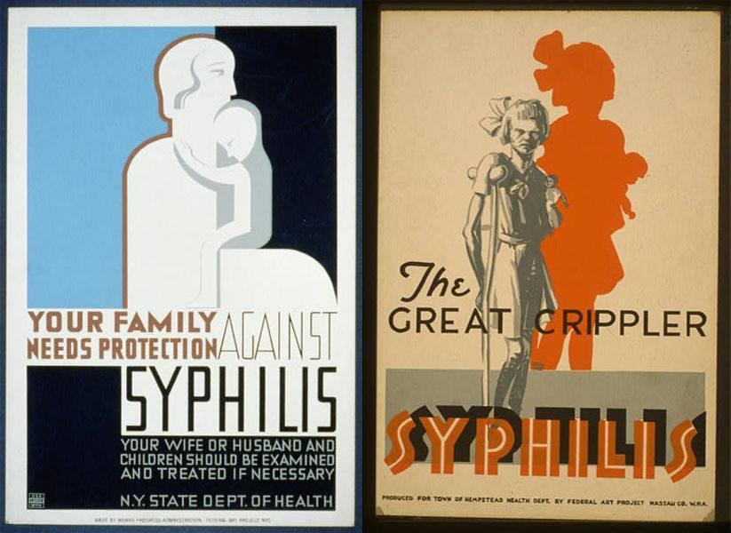 Vintage Health Posters Syphilis Crippler Copy