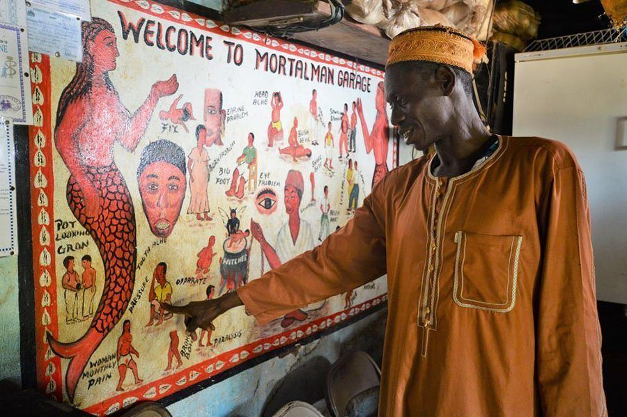 Witch Doctors Sierra Leone Pointing