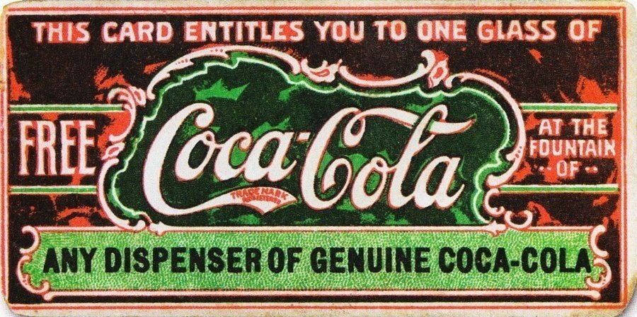 First Coupon For Coca-Cola History