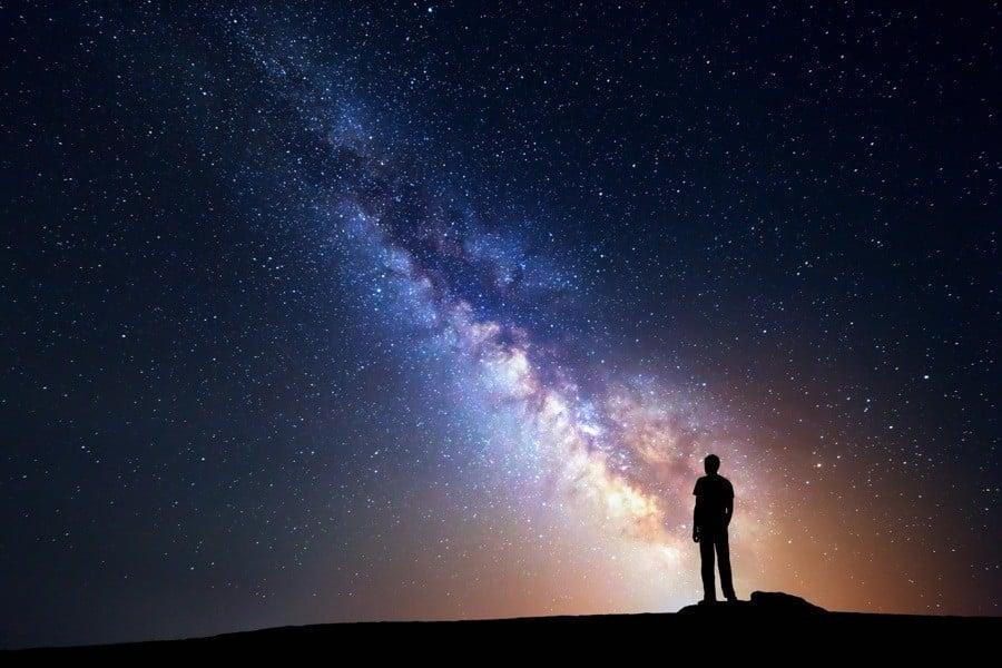Drake Equation Person Sky