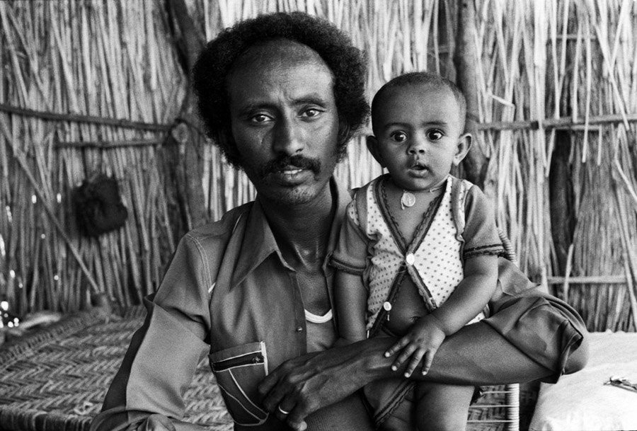 Ethiopian Refugee Father Son