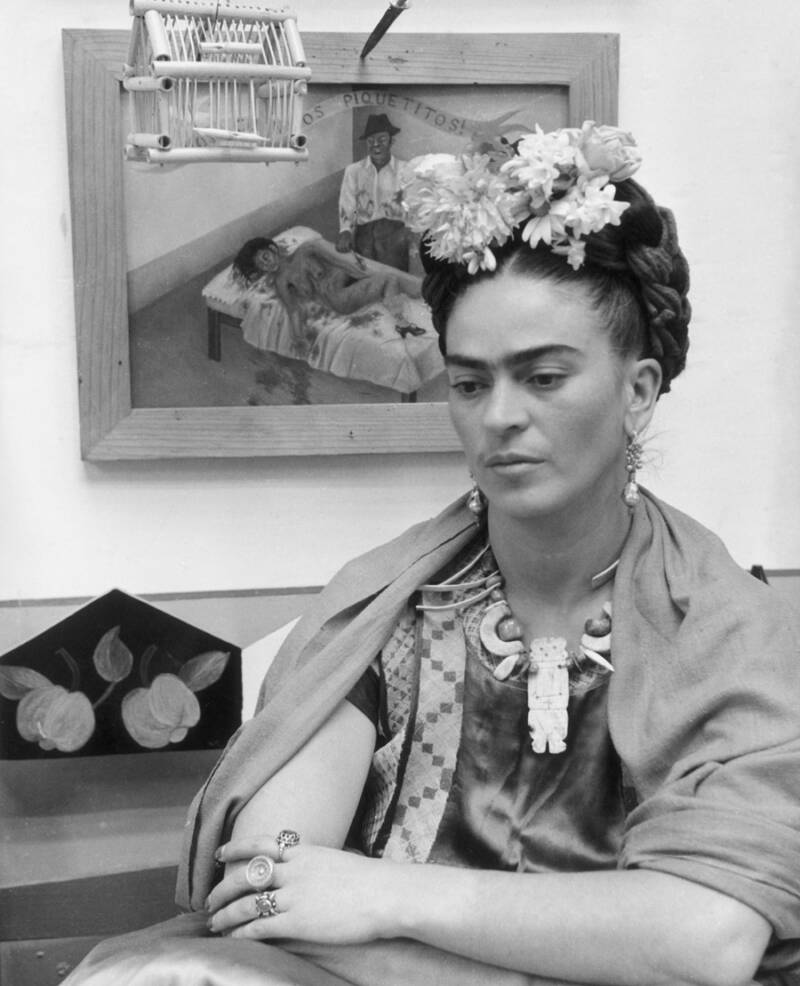 Frida And The Hospital Painting