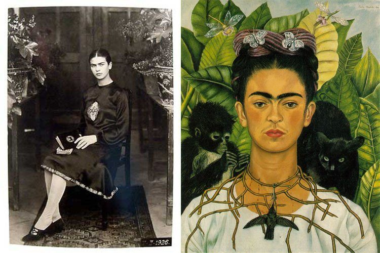 Frida Kahlo Photos Seated