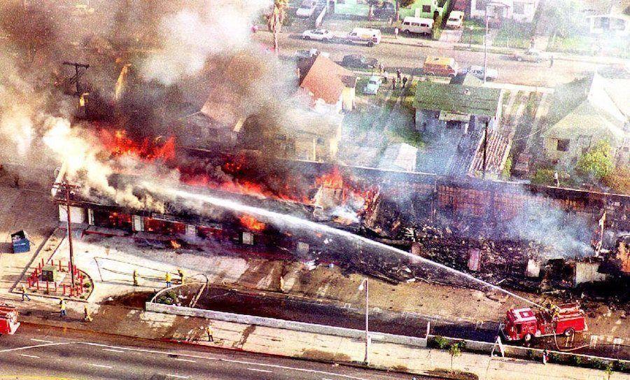 La Riots Aerial View