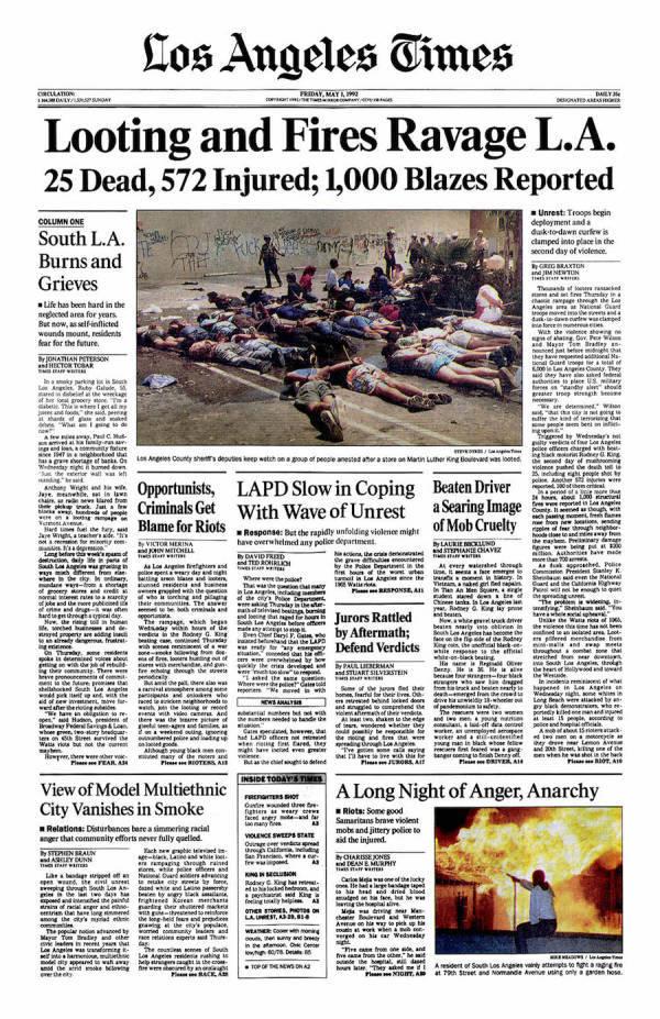 La Times Cover Story