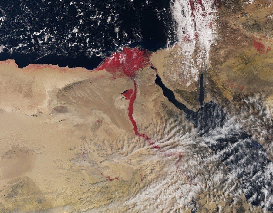 Nile River Satellite Image