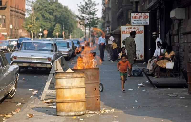 Trash Can Fire Harlem