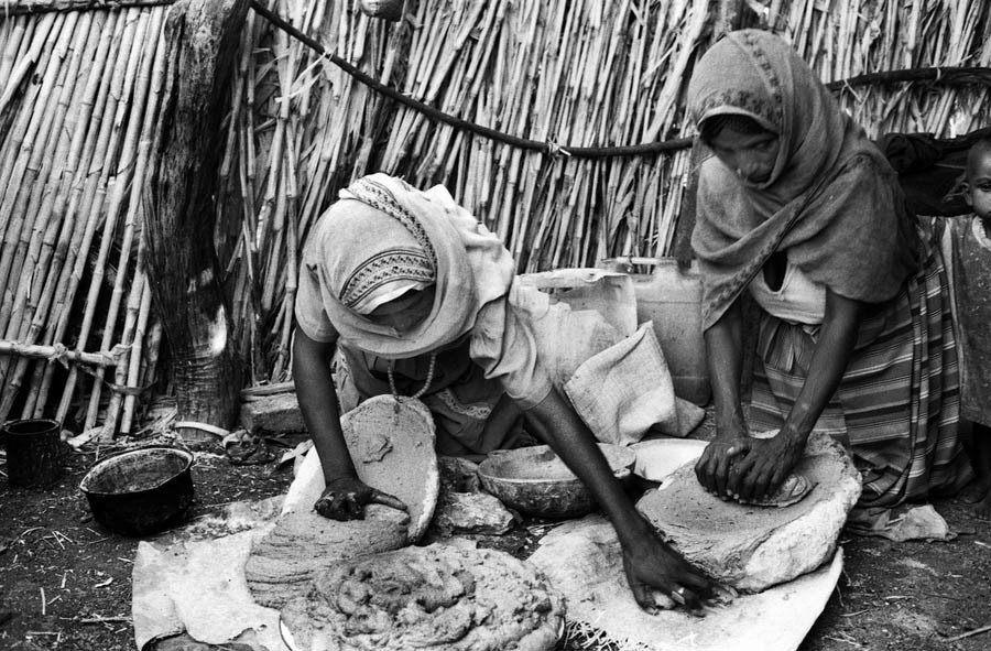 Women Making Injera