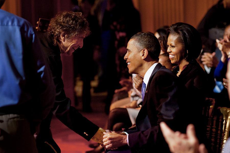 Bob Dylan Meeting Obama
