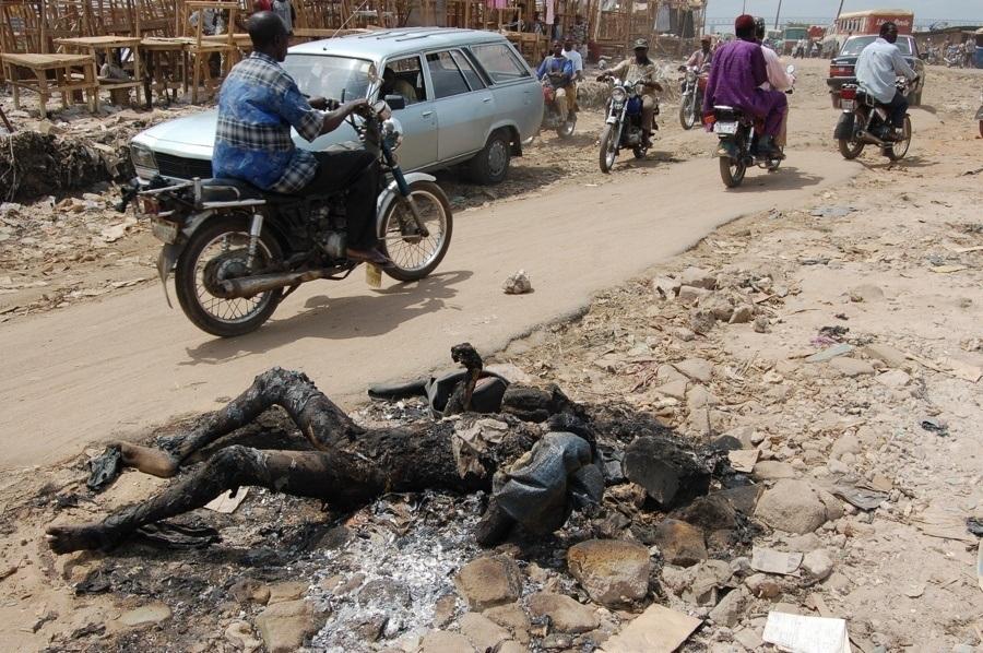 Burned Body In Onitsha