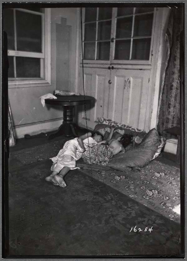 Children Sleeping Tenement Building
