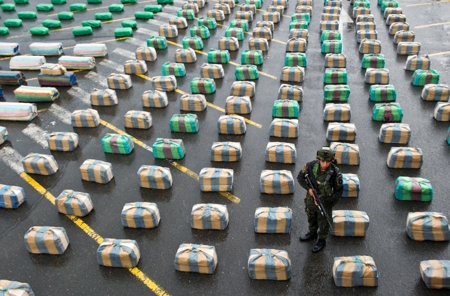 Drug Seizure Soldier