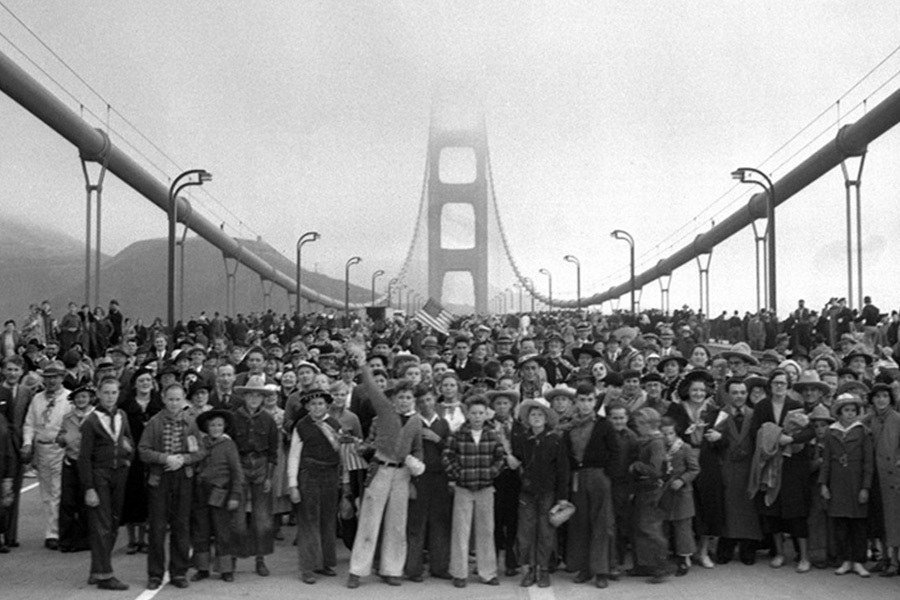 Image result for golden gate bridge opened to the public
