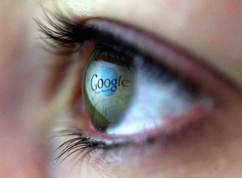 Websites Reflected In Girls Eye