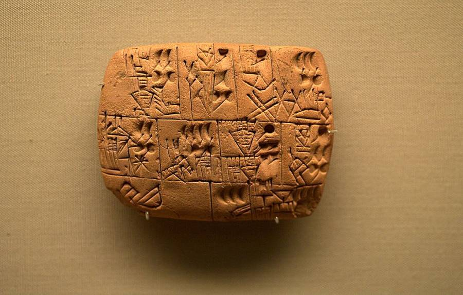 History Of Beer Tablet From Iraq