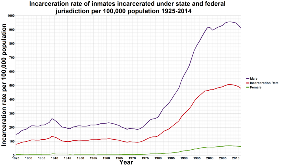 Incarceration Rate Graph