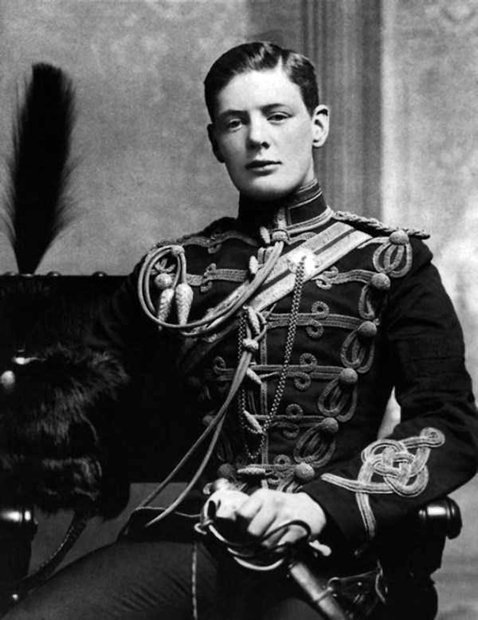Young Winston Churchill In Military Uniform