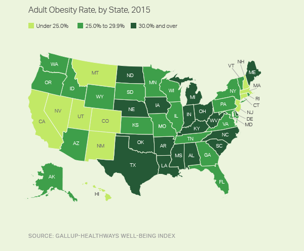 Obesity In America Map