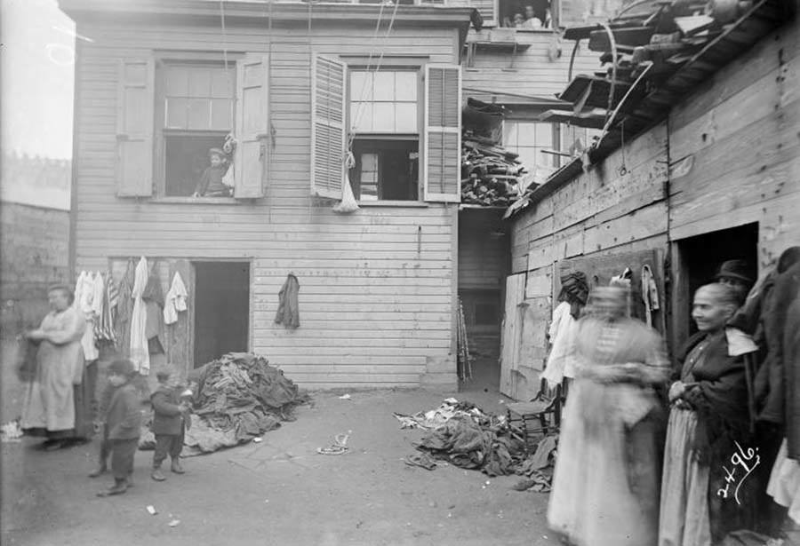 Piled Rags Tenement Building