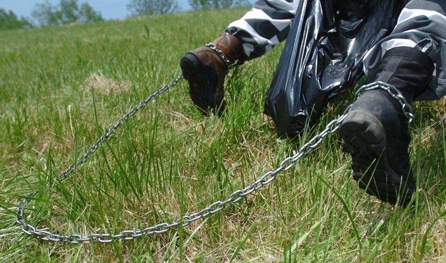 Prisoner's Chained Feet