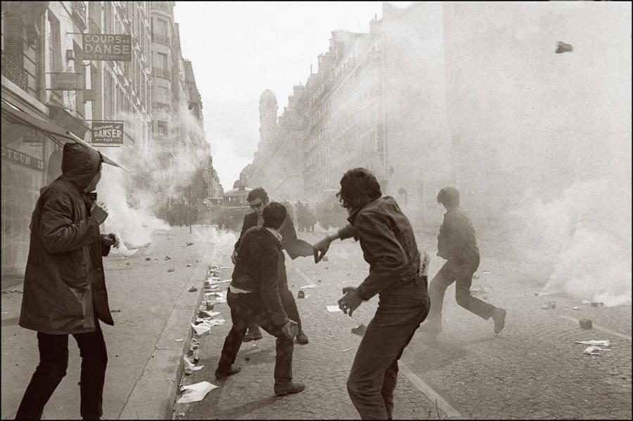 Protestors Smoke