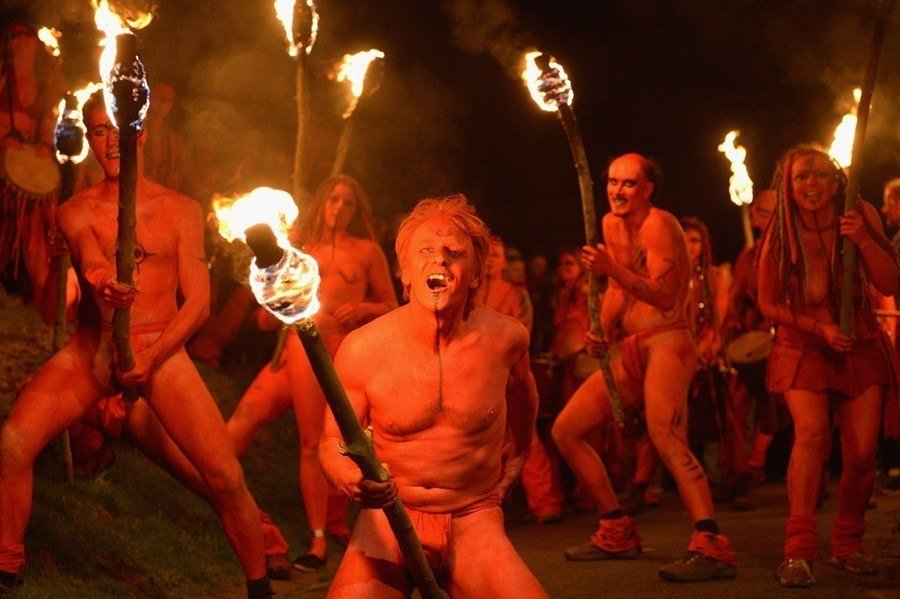 Red Firedancers Beltane Fire Festival