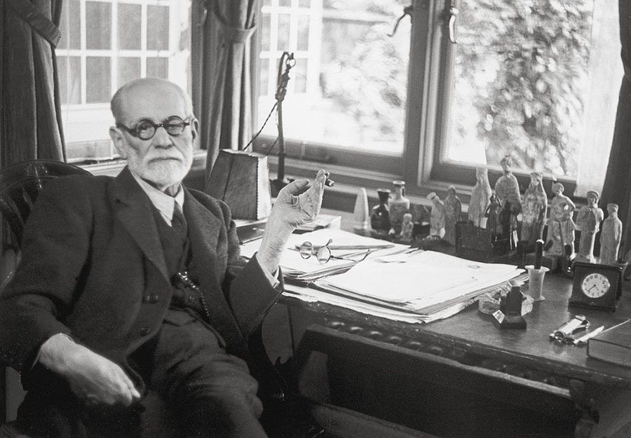 Sigmund Freud At His Desk