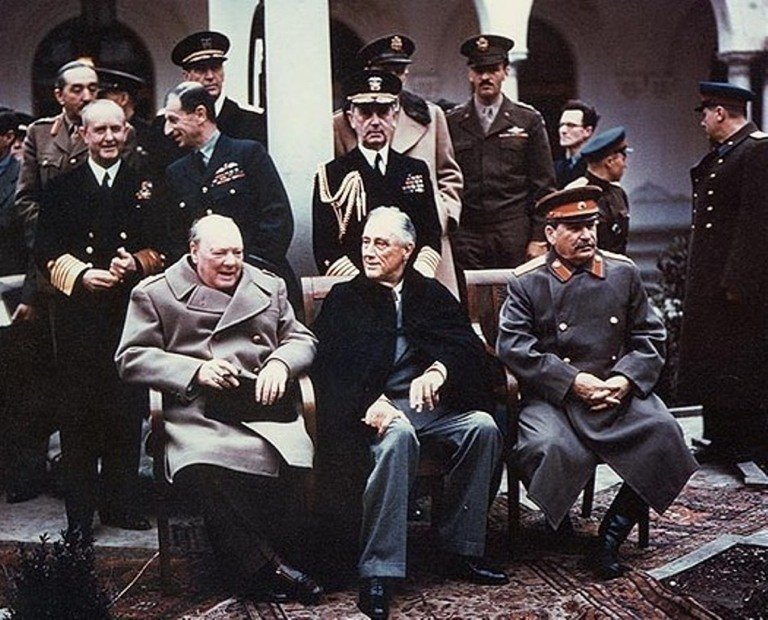 With Stalin And Roosevelt
