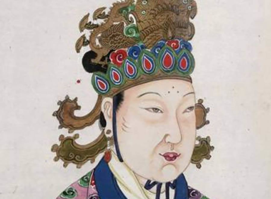 Wu Zetian Portrait Drawing