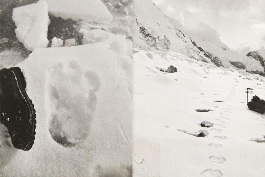 Yeti Sightings Shipton Footprints