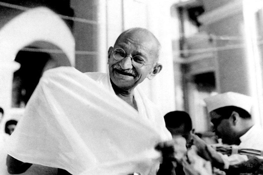 Gandhi Laughing