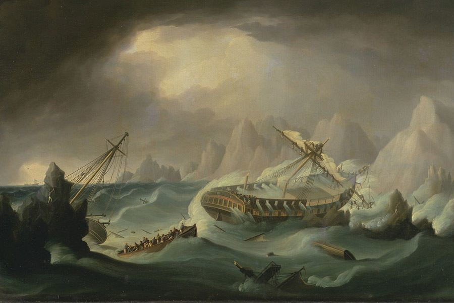 Edgar Allan Poe Shipwreck