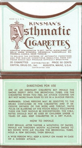 Asthmatic Cigarettes