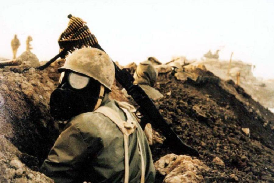 Chemical Weapons Iranian Soldier