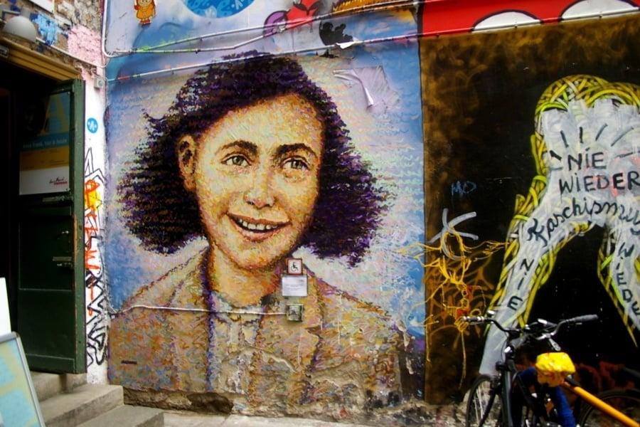 Anne Frank Quotes Colorful Graffiti