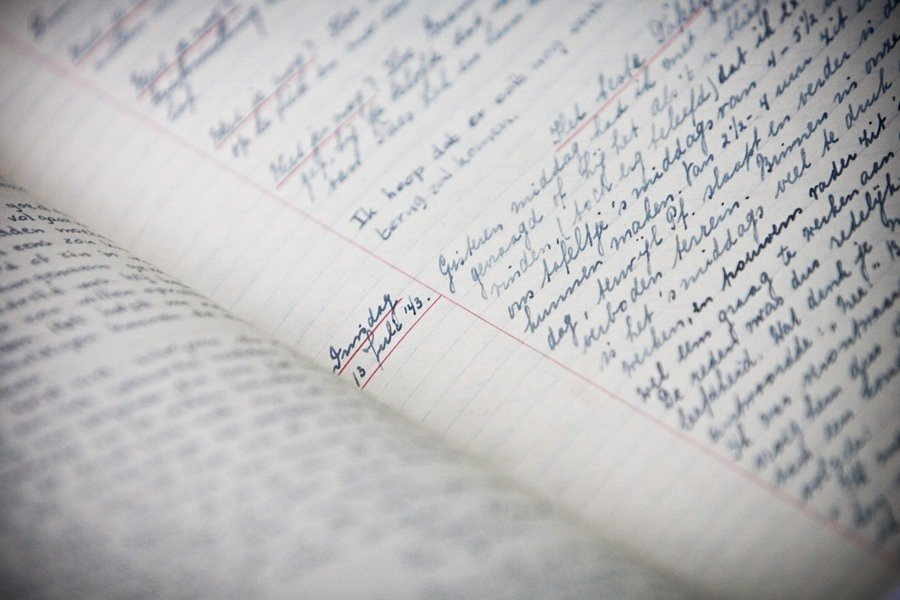 Diary Page Cursive