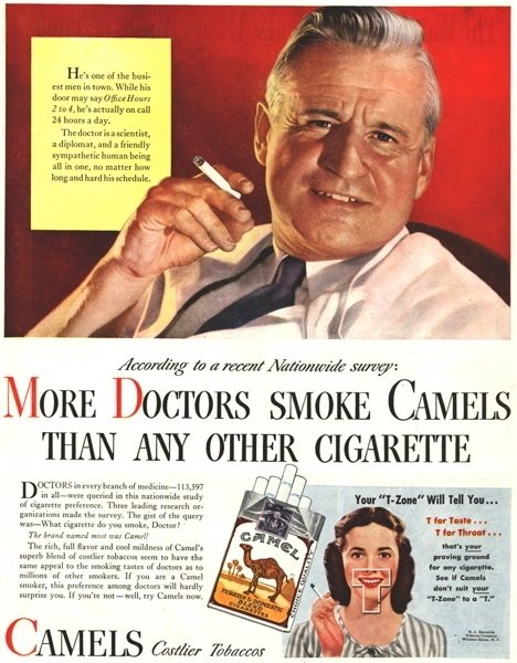 33 Vintage Cigarette Ads From Before We All Knew Better