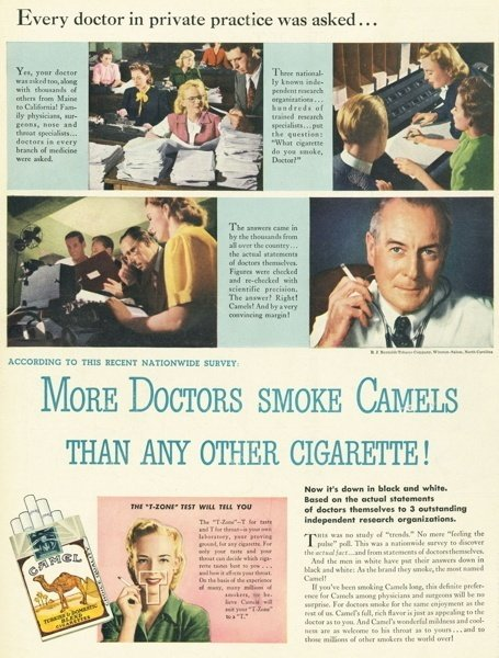 Doctors Smoking Camels Ad