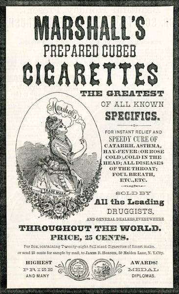 Medicinal Cigarette Ad