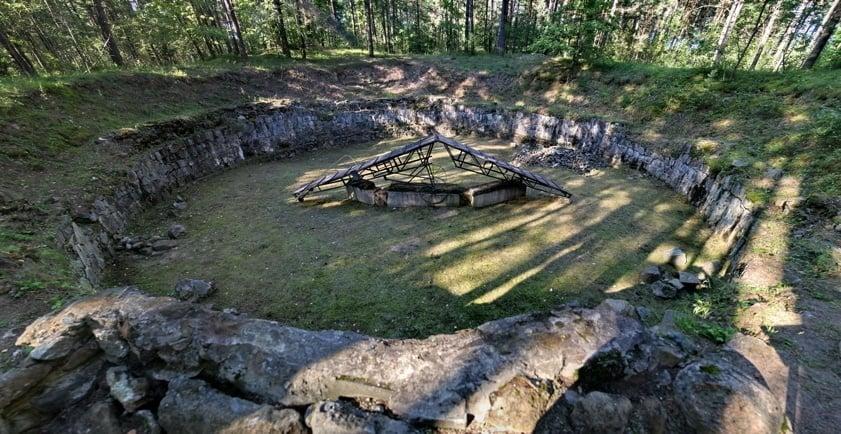 Cremation Pit At Ponar