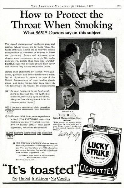 Throat Protection Lucky Strike