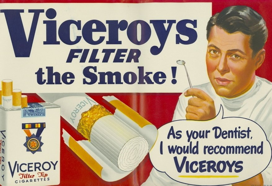 Vintage Cigarette Ads Dentist